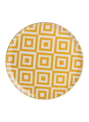 Porland Morocco Düz Tabak Desen4 Sarı 28cm Sarı